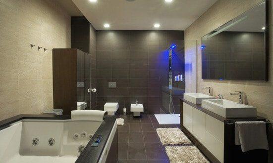 Elinstallationer i badev relse f vejledning til regler for Interieur salle de bain moderne