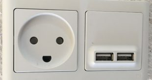 1m USB lader+stik hvid