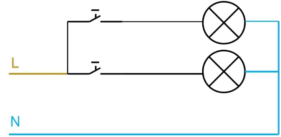 Krone afbryder diagram